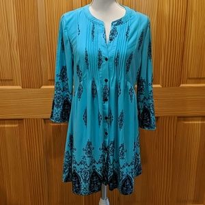 Never Worn Button Up Tunic. L
